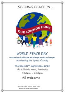 World Peace Day - Seeking Peace in our Common Home @ Killeshin Hotel   Portlaoise   County Laois   Ireland