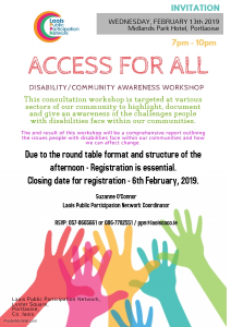 """Access for All"" Disability Community Awareness Workshop @ Midlands Park Hotel"