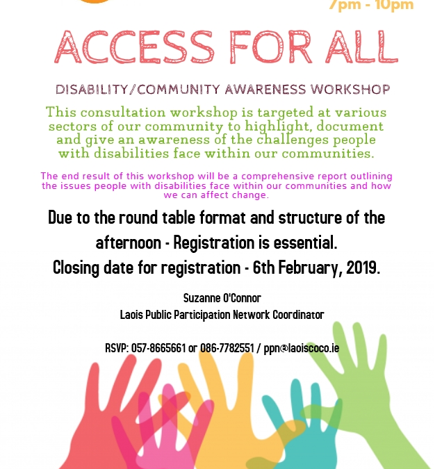 """Access for All"" Disability Community Awareness Workshop"