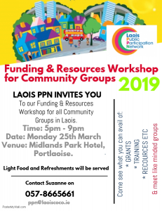 Resources and Funding Event for Community Groups @ The Midlands Park Hotel