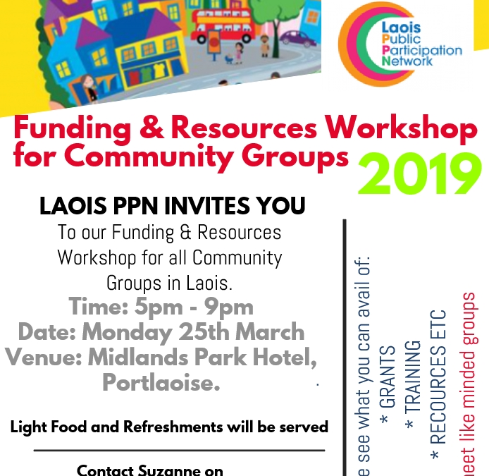Resources and Funding Event for Community Groups