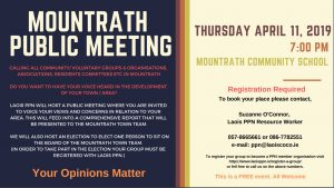 Mountrath Public Meeting @ Mountrath Community School