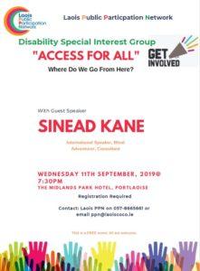 Disability SIG - Where do we go from here? @ Midlands Park Hotel | Portlaoise | County Laois | Ireland