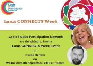 Laois PPN - Laois CONNECTS Week Event 2019 @ Durrow Castle   Durrow   County Laois   Ireland
