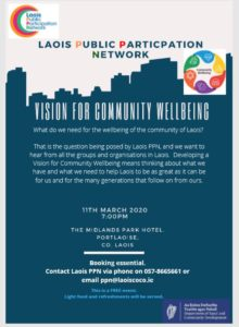 Vision for Community Wellbeing @ Midlands Park Hotel | Portlaoise | County Laois | Ireland